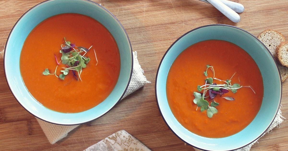 zuppa di carote e zenzero
