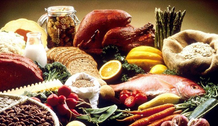 Insieme di prodotti alimentari