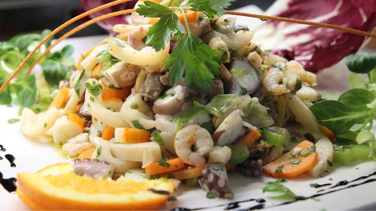 Insalata di mare fatta in casa ricetta